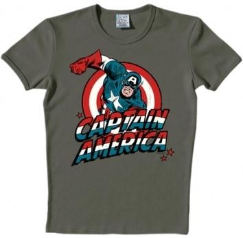 Logoshirt - Captain America Shirt - Marvel - Grau