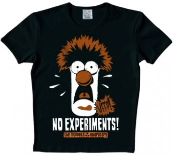 Logoshirt - Muppets - Beaker Shirt - Schwarz