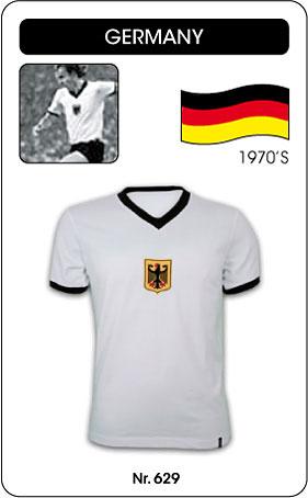 Deutschland Retro Trikot weiss
