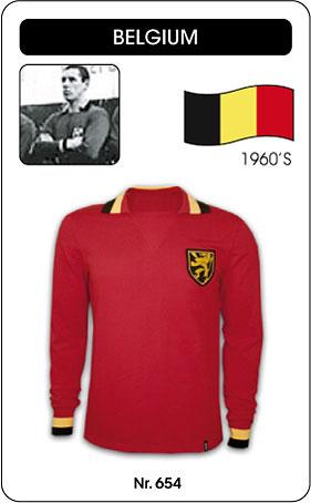 Belgien Retro Trikot Langarm