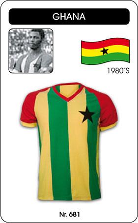 Ghana Trikot - Retro Fussball Trikot gestreift