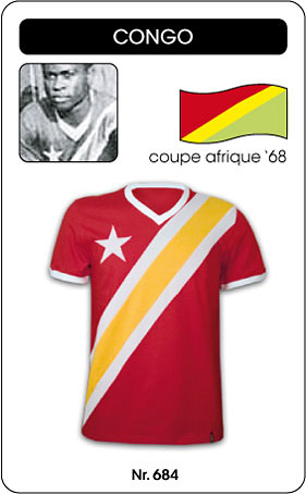 Kongo - Congo - Coupe Afrique 1968 - Trikot