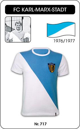 FC Karl Marx Stadt Retro Trikot 1976 1977