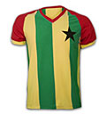 GHANA TRIKOT - RETRO FUSSBALL TRIKOT GESTREIFT