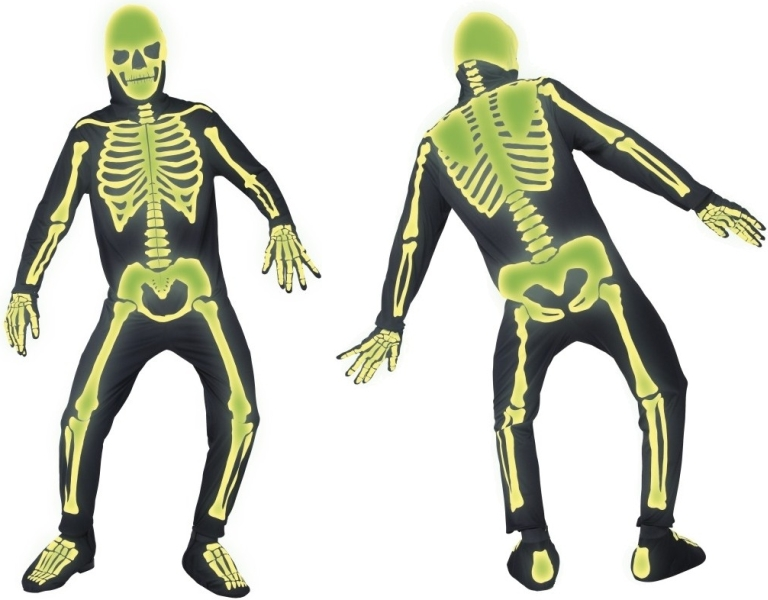 masken und shopping kost me skelett kost m leuchtet im dunkeln horror. Black Bedroom Furniture Sets. Home Design Ideas
