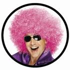 Mega Afro Perücke Pink