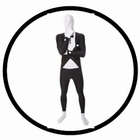 Morphsuit - Smoking Schwarz - Ganzkörperanzug