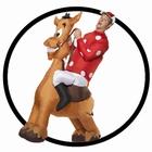 Jockey und Pferd Kostüm Aufblasbar