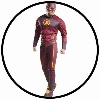 The Flash Deluxe Kostüm - DC Comic  - Klicken für grössere Ansicht