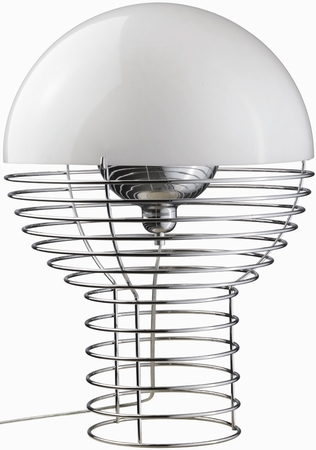 verner panton lampen von klang und kleid verner panton lampe wire weiss verpan. Black Bedroom Furniture Sets. Home Design Ideas