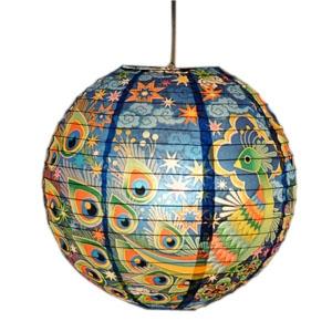 Papierlampenschirm - Peacock - Pfau