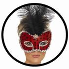 Käfer Maske Rot Schwarz Punkte