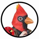Kardinalmaske (Vogelmaske) Archie McPhee