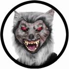 Wolf Maske mit roten Augen