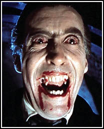 Christopher Lee als Dracula
