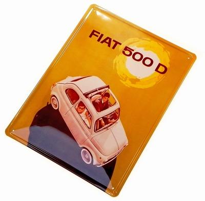 Fiat 500 Blechschild - 500 D
