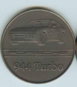 Original Porsche Kalendermünze 1986 944 Merchandising Artikel