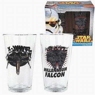 Gläser 2er Pack - Star Wars - Millennium Falcon + X-Wing