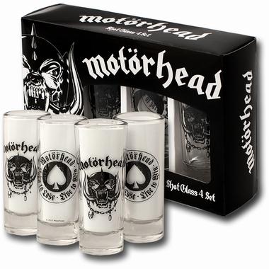 Motörhead Schnapsgläser Merchandise - 4er Set - Shot Gläser