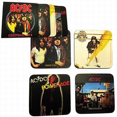 AC/DC Coaster Set - 4 Untersetzer