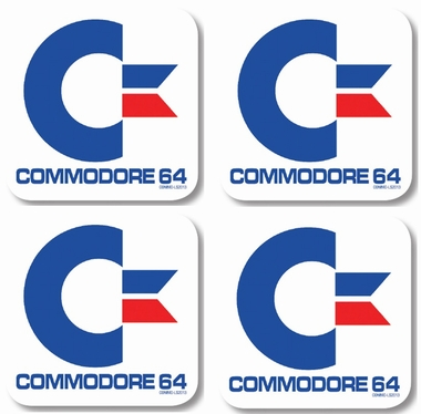 Commodore C64  Retro-Coaster Set - 4 Untersetzer