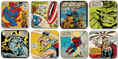 Marvel Coaster Comic Set - 8 Untersetzer