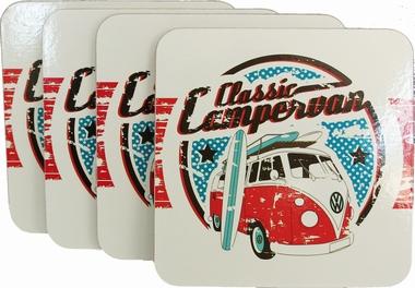 VW Bulli Untersetzer Set - Classic Campervan Coaster