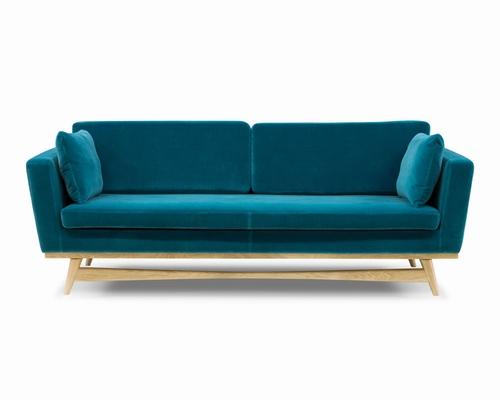 Samt sofa  Klang und Kleid - Möbel - FIFTIES SOFA 210 BEZUG SAMT