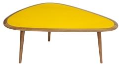 klang und kleid m bel nierentisch fifties 50er jahre klein gelb. Black Bedroom Furniture Sets. Home Design Ideas