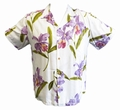 1 x ORIGINAL HAWAIIHEMD - DOUBLE ORCHID - WEISS - PARADISE FOUND
