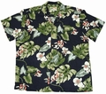 6 x ORIGINAL HAWAIIHEMD - MONSTERA ORCHID NAVY - PARADISE FOUND
