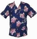 9 x ORIGINAL HAWAIIHEMD - SAKURA - NAVY - PARADISE FOUND