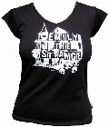 1 x EMILY THE STRANGE - HAUNTED V-NECK SHIRT