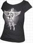 3 x TOXICO SHIRT - PIN UP ANGEL BLACK - GIRLS