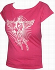 2 x TOXICO SHIRT - PIN UP ANGEL PINK - GIRLS