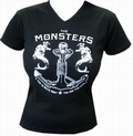 1 x THE MONSTERS - HURT - GIRLIE-SHIRT