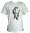 1 x BASSIST - WHITE - MEN SHIRT