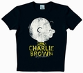 2 x LOGOSHIRT - PEANUTS - CHARLIE BROWN SHIRT & NAME - BLACK