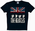 LOGOSHIRT - THE BEATLES SHIRT UNION JACK - BLACK