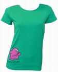 AMOS - HEY HO - GREEN - GIRL SHIRT