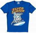 1 x LOGOSHIRT - SILVER SURFER SHIRT - MARVEL - BLAU