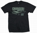 3 x CHARGER 1968 - MEN SHIRT SCHWARZ