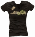 3 x CHILLED BEACH - GIRL SHIRT SCHWARZ