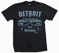 2 x DETROIT BEE - MEN SHIRT SCHWARZ