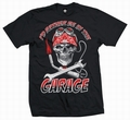 1 x KUSTOM GARAGE - MEN SHIRT SCHWARZ