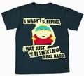 Logoshirt - South Park Cartman Thinking Shirt - Graphite