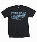 4 x MUSTANG FASTBACK - MEN SHIRT SCHWARZ