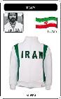 IRAN FUSSBALL RETRO JACKE