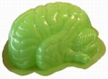4 x PUDDING GEHIRN FORM ZOMBIE - BRAIN MOLD