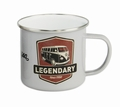 VW BULLI Emaille Tasse - Legendary